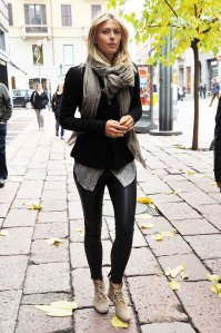 MARIA SHARAPOVA in Leather Pants